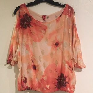 White House Black Market floral top